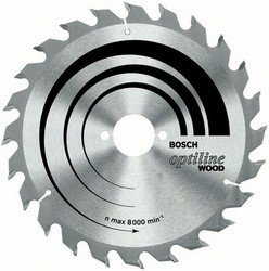 Диск отрезной для ручных циркулярных пил Bosch Optiline Wood 2608641185 диск отрезной для торцовочных пил bosch optiline wood 2608640432