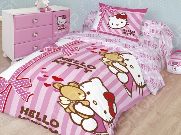 фото Комплект постельного белья Hello Kitty «Лучшие друзья», Детские комплекты постельного белья