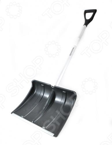Лопата для уборки снега РОС Снеговик с длинным алюминиевым черенком. Рабочая часть сделана из пластика имеется металлическая кромка . Отличный инструмент для уборки снега.