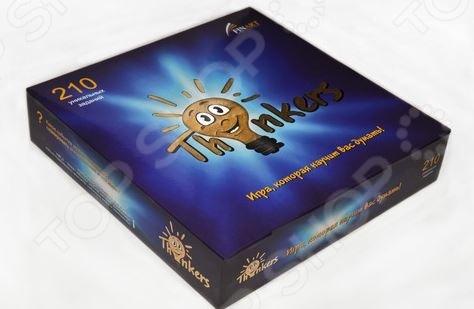 Игра логическая Thinkers «6 в 1»Обучающие и развивающие настольные игры<br>Игра логическая Thinkers 6 в 1 предназначена для детей от 12 лет. С ее помощью дети смогут тренировать и развивать свое мышление. В набор входит 210 карточек с заданиями разной сложности по шести разделам: структура, логика, последовательность, воображение и модель. Игра рассчитана на двух игроков.<br>