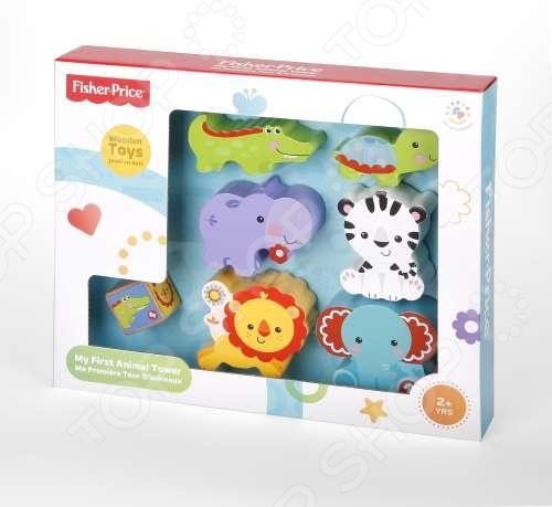 фото Игрушка деревянная развивающая Fisher Price «Пирамидка из животных», Деревянные игрушки для малышей