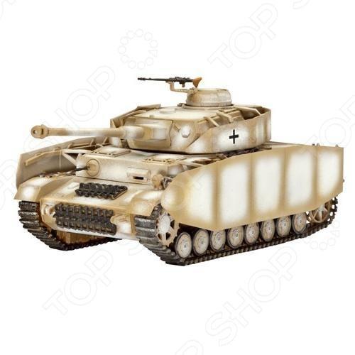 Сборная модель Panzerkampfwagen IV Ausf. H представляет собой точную копию настоящего танка. Состоит из 204 деталей, которые юный механик должен собрать сам. Во время игры с такой машиной у ребенка развивается мелкая моторика рук, фантазия и воображение. Немецкий средний танк времен Второй мировой войны выпущен известной компанией по производству игрушек Revell. Изготовлен из пластика и обладает потрясающей детализацией. Сборная модель Panzerkampfwagen IV Ausf. H является отличным подарком не только ребенку, но и коллекционеру. Клей, кисточка и краски в комплект не входят.