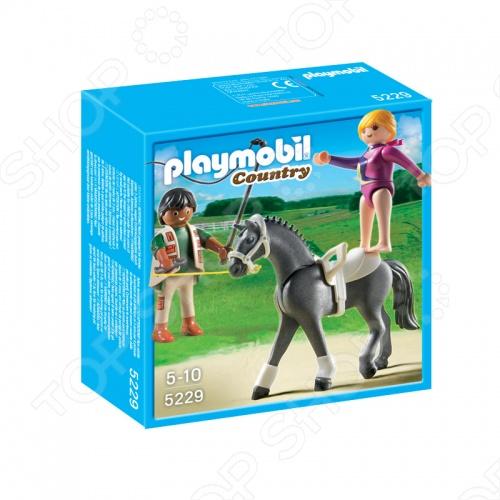 Лошади:Наездница-эквилибриства на лошади Playmobil 5229pm комплект состоящий из фигурки эквилибристки и лошадке, который можно использовать в играх на построенных игрушечных конструкторах или на улице, в песочнице. Подарите вашему малышу интересную игрушку для приятного времяпрепровождения.