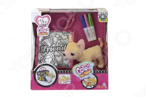 Собачка плюшевая Simba «Чихуахуа»Мягкие игрушки<br>Собачка плюшевая SIMBA Чихуахуа прекрасный подарок для девочек. С этой замечательной игрушкой ребенок сможет вжиться в образ гламурной дамы с собачкой. В комплекте элегантная сумочка, в которой можно носить плюшевого питомца или любые другие вещи, используемые в детских играх. Кроме того, дизайнеры набора оставили возможность украсить сумочку самостоятельно при помощи трех ярких фломастеров.<br>