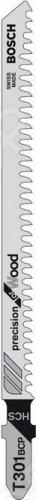 Набор пилок для лобзика Bosch T 301 BCP HCS пилка для лобзика bosch 2609256746 2609256746