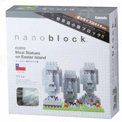 Мини-конструктор Nanoblock «Остров Пасхи»Другие виды конструкторов<br>Мини-конструктор Nanoblock Остров Пасхи это самый маленький в мире конструктор, который представляет собой удивительное творение японских инженеров. Высокоточные трехмерные модели стали очень популярны во всем мире, а теперь вы можете приобрести их и для своего ребенка. Высокое качество пластика, дизайн деталей и точная инструкция позволят добиться изумительной реалистичности у собранной модели. Сборка конструкции может занять от 10 минут до нескольких часов, ведь необходимо проявлять внимательность в подборе каждой детали. Собрав детали этого конструктора вы сможете получить фигурки с острова Пасхи, собранная модель сможет украсить интерьер детской комнаты. В комплекте вы найдете 300 деталей разных цветов, подставку, графическую инструкцию и запасные детали. Для ребенка очень полезно собирать конструкторы такого типа, ведь развивается мелкая моторика рук, логическое и пространственное мышление, усидчивость и координация движений.<br>