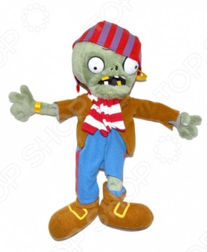 Мягкая игрушка Plants vs Zombies «Зомби-пират»Мягкие игрушки<br>Игрушка мягкая Plants vs Zombies Зомби-пират это замечательный подарок малышу, обожающему игру Plants vs Zombies Растения против Зомби ! Этот персонаж вызовет настоящий восторг, поднимет настроение и вызовет улыбку. Игрушка изготовлена из высококачественных материалов, которые абсолютно безвредны для ребенка. Забавный персонаж украсит любую детскую комнату и принесет радость и веселье во время игр. Игрушка мягкая Зомби-пират поможет развить тактильные навыки, зрительную координацию и мелкую моторику рук.<br>