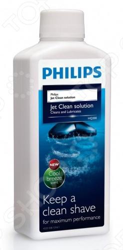Жидкость для чистки бритвенных головок Philips HQ200/50 аксессуар жидкость для очистки бритв philips jet clean hq200 50