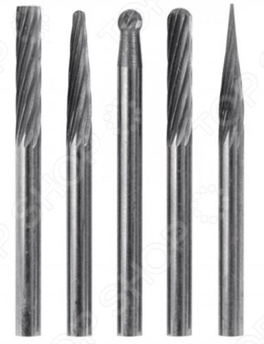 Набор шарошек твердосплавных FIT состоит из 5 штук. Предназначены для резки и обработки металлических и неметаллических материалов прочностью до HRC70. Применяются с дрелью и гравировальной машинкой. Диаметр штифта 3 мм. Материал: карбидный сплав.
