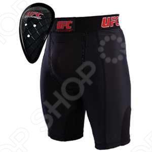 Шорты компрессионные UFC c ракушкой. Размер: L. Уцененный товар