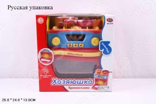 Плита кухонная игрушечная со световыми и звуковыми эффектами PlaySmart Р41069Сюжетно-ролевые наборы<br>Плита кухонная игрушечная со световыми и звуковыми эффектами PlaySmart Р41069 станет великолепной игрушкой для ваших детей, которая доставит им огромное количество радостных минут и мгновений. Вас и всех окружающих, без сомнения, порадуют весёлые детские возгласы, во время интересной игры, а яркие, разнообразные цвета будут способствовать развитию у малыша чувства восприятия звука и цвета, и, что немаловажно, развитию моторики, координации движения, логику малыша. Позвольте ребёнку создать свой мир и наполнить его именно теми персонажами и элементами, которые ему больше всего нравятся. Подсветка и звуковая имитация настоящей плиты только добавят интереса и реалистичности в детскую игру<br>