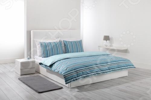 Фото Комплект постельного белья Dormeo Mark Trend. 2-спальный. Цвет: синий