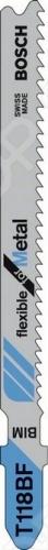 Набор пилок для лобзика Bosch T 118 BF BIM bosch t 101 bf bim