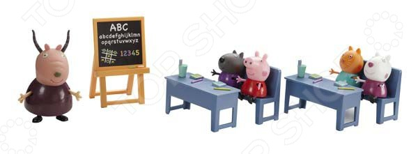 Набор игровой Peppa Pig «Идем в школу» игровой набор peppa pig семья пеппы папа свин и джорж 2 предмета от 3 лет 20837
