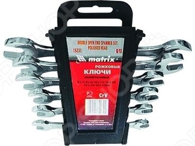 Набор ключей рожковых MATRIX 6 шт. набор рожковых ключей matrix с зеркальным хромированием 12 шт