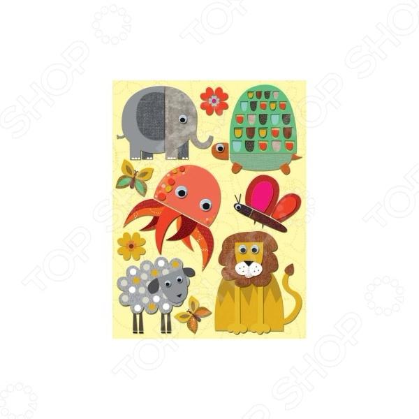 Стикер-украшение K&amp;amp;Company «Осьминог и слон»Украшения<br>Стикер-украшение K Company Осьминог и слон это элемент оформления работ в технике скрапбукинг. Стикеры гармонично дополнят дизайн альбомов, открыток и подарочных коробок, картин, аппликаций любых поделок, связанных с бумагой, которые подскажет вам фантазия! Размер: 10х15 см. Скрапбукинг это возможность не только украсить свой дом, но и приготовить своими руками оригинальные и запоминающиеся подарки. Живописные альбомы ручной работы, наполненные семейными фотографиями и памятными мелочами, на долгие годы сохранят самые любимые и яркие моменты жизни. Выбирайте понравившиеся стикеры, фантазируйте, придумывайте, удивляйте! Желаем творческих успехов!<br>