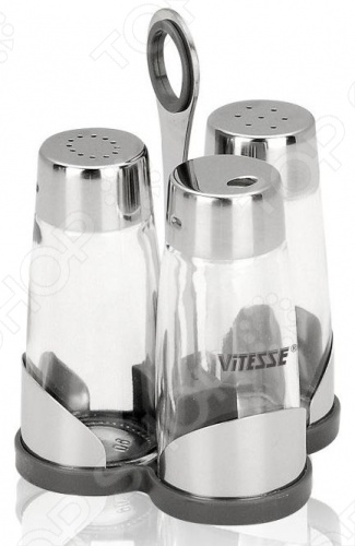 Солонка и перечница с держателем для зубочисток Vitesse Classiс VS-8607 солонка и перечница vitesse classiс vs 8608