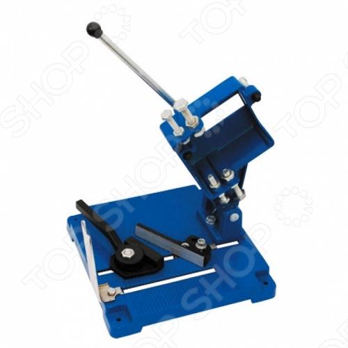 Станок для угловой шлифовальной машины FIT 37865Зажимной инструмент<br>Станок для крепления FIT предназначен для для установки УШМ под диски 115, 125 и 150 мм при производстве отрезных работ по металлу и жестким пластикам. Длина реза до 60 мм, глубина до 35 мм. Очень удобен в использовании.<br>