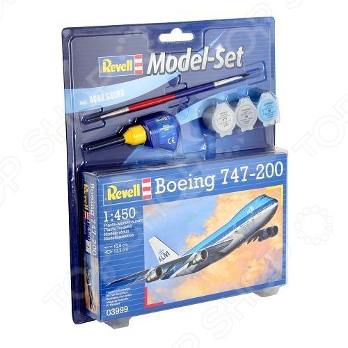 Сборная модель пассажирского самолета Revell Boeing 747-200 revell boeing 747 100 revell ревелл 1 450