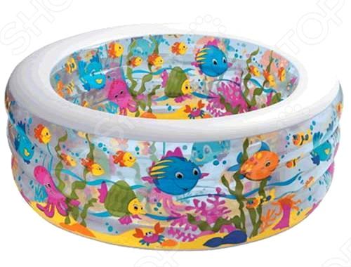 Бассейн надувной Intex 58480 надувной бассейн intex бассейн аквариум 152 56см
