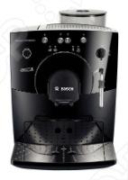 Кофемашина Bosch TCA 5309 выполнена в стильном и современном дизайне. За пару минут она сварит кофе превосходного качества из цельных или молотых зерен. Подойдет как для офиса, так и для дома. Емкость составляет 1.8 л, чего хватит на большое количество чашек. Объем порций можно регулировать в пределах от 30 до 220 мл. Также есть регулировка крепости и температуры кофе. Одновременное приготовление двух чашек пригодится, если у ваш большая семья или в офисе. За счет системы Аroma Whirl System plus зерна предварительно смачиваются, позволяя получать максимальный аромат. Кофемашина Bosch TCA 5309 оборудована автоматической очисткой от накипи и промывается после каждого приготовления, что продлевает ее срок службы.
