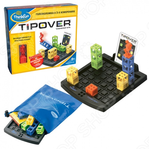 Головоломка кубическая Thinkfun Tipover цена 2017