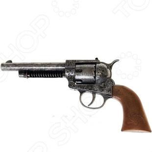 Пистолет Edison Giocattoli ФронтирПистолеты<br>Пистолет Edison Фронтир оружие с качественным видом, с которым малыш почувствует себя настоящим стрелком. В качестве мишени можно использовать простые картонные листы с нарисованной целью, это поможет грамотно выработать умения стрельбы. Сама стрельба производится пистонами, что делает игровой процесс более реалистичным. Кроме того, оружие выглядит невероятно круто. Магазин вмещает 12 пистонов. Перед использованием нужно произвести инструктаж для ребенка.<br>