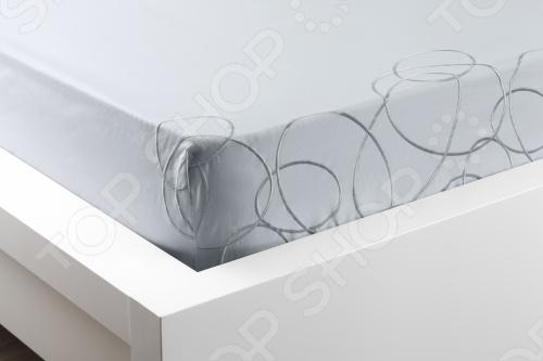 Фото Комплект постельного белья Dormeo Elipse. 1-спальный. Цвет: голубой