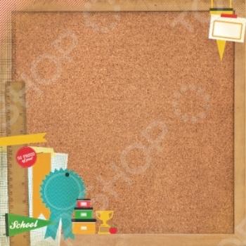 фото Бумага для скрапбукинга глянцевая Kaisercraft Corkboard, купить, цена