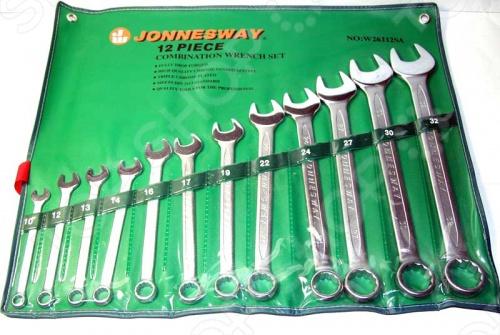 Набор ключей комбинированных Jonnesway W26112SA набор приспособлений для фиксации распределительных и коленчатых валов двигателей renault jonnesway al010180