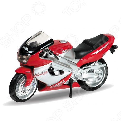 Модель мотоцикла 1:18 Welly Motorcycle/Yamaha 2001 YZF1000R Thunderace. В ассортиментеМодели авто<br>Модель мотоцикла 1:18 Welly Motorcycle Yamaha 2001 YZF1000R Thunderace представляет собой коллекционную модель, являющуюся точной копией настоящего мотоцикла. Большая достоверность и похожесть настоящего транспортного средства обеспечивается наличием всех деталей, которые есть в реальной жизни: зеркалами заднего вида, выхлопной трубой, фарами, подножкой для устойчивости. Она будет прекрасным подарком для вашего малыша, так как это не только игрушка, но и полезная вещь, во время игры с которой у ребенка развивается мелкая моторика рук, воображение и фантазия.<br>