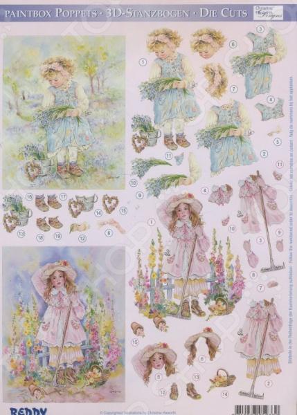 фото Аппликация вырубная для объемных рисунков Reddy Creative Cards «Кристина Хаворт» №6, купить, цена