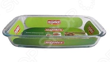 Форма для запекания прямоугольная Mijotex PLСтеклянные формы для выпечки и запекания<br>Форма для запекания прямоугольная Mijotex PL предназначена для приготовления горячих блюд. Mijotex PL сделана из жаропрочного стекла. Посуда также идеально подходит для выпекания различной выпечки, ведь форма предотвращает тесто от вытекания , при этом, предоставляя возможность с легкостью извлечь готовую выпечку и получить на ней красивый рисунок. Жаропрочное стекло абсолютно безопасно и не вступает в реакцию с продуктами, а также не влияет на запах и вкус готового изделия. Форма для запекания прямоугольная Mijotex PL пригодна для использования в духовом шкафу, на газовых комфорках, электроплитах, в микроволновой печи. Подходит для мытья в посудомоечной машине.<br>