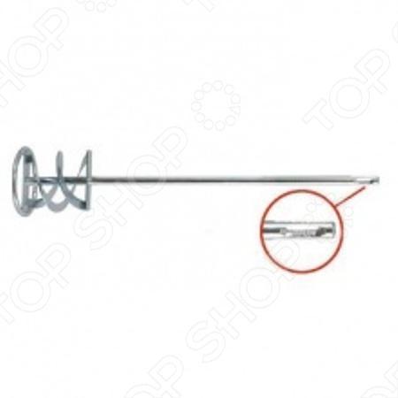 Краскомешалка оцинкованная FIT Профи это насадка для перфоратора с патроном типа SDS-Plus. Позволяет перемешивать краски и строительные смеси. Инструмент изготовлен из инструментальной стали и имеет оцинкованное покрытие для предотвращения коррозии.