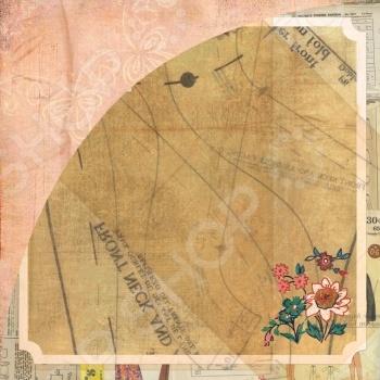фото Бумага для скрапбукинга двусторонняя Basic Grey Seams, купить, цена