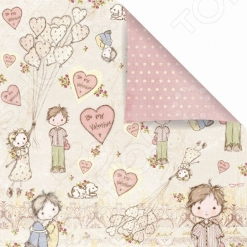 Бумага для скрапбукинга двусторонняя Prima Marketing Sweet Valentine бумага для скрапбукинга двусторонняя scrapberry s конфетти