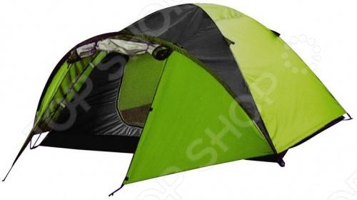 Палатка 3-х местная Greenwood Target 3 удобная палатка для заядлых путешественников. В палаткеодин спальный отсек, оборудованный дополнительной внутренней палаткой из дышащего полиэстера, способный вместить 3-х человек. Вход предусмотрительно продублирован антимоскитной сеткой.