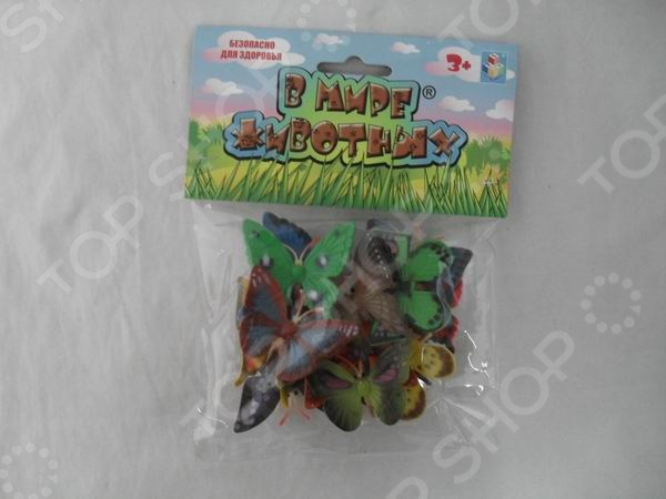 Фигурки насекомых 1 Toy «В мире животных. Бабочки» игровые фигурки guidecraft игровые фигурки better builders набор профессии