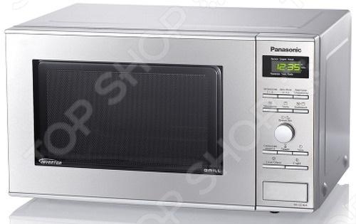 Микроволновая печь Panasonic NN-GD382SZPE прекрасно справится с разогревом пищи. Кроме того благодаря кварцевому грилю в ней можно готовить разнообразные блюда. Внутренний объем равен 23 литрам, что позволяет помещать в нее большие порции продуктов. Управление осуществляется посредством кнопочных и тактовых переключателей.