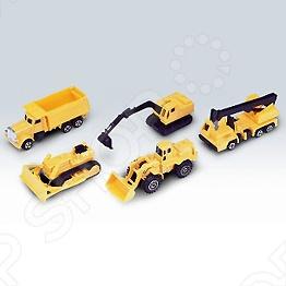Набор машинок игрушечных Welly «Строительная бригада»