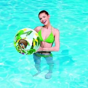 Мяч надувной Bestway Джунгли 31040 прекрасно подойдет для детских игр в бассейне или на море. Диаметр составляет 51 см. Предназначен для детей в возрасте от 2 лет.