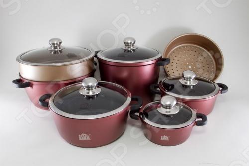 Набор кухонной посуды Stahlberg 2342-S набор посуды 6 предметов stahlberg mini 1790 s