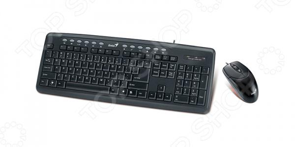 фото Клавиатура с мышью Genius KM-220 Black PS/2, Комплекты: клавиатуры и мыши