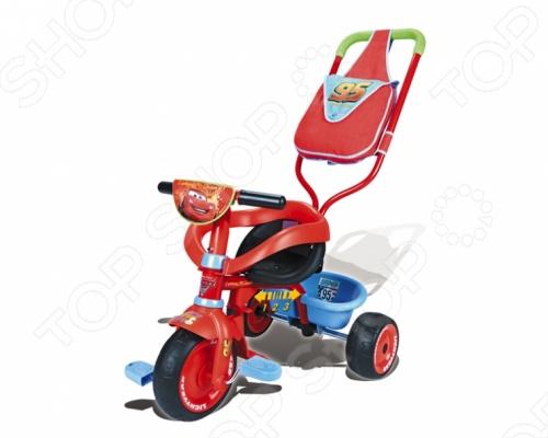 Велосипед трехколесный Smoby Be Fun Confort Cars - станет отличным подарком для вашего малыша. Многофункциональное транспортное средство по достоинству оценят как взрослые так и дети. Модель имеет управляемый толкатель с удобной сумкой, дуги и удобные ремни безопасности. Когда малыш подрастет, то сможет кататься на велосипеде самостоятельно. У велосипеда широкие прорезиненные бесшумные колеса, которые не позволят ему опрокинуться.