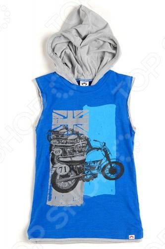 Майка с капюшоном Appaman Bikes HoodedМайки для мальчиков<br>Appaman - основан в 2003 году дизайнером Харальдом Хузуме. Appaman имеет уникальный взгляд на скандинавский стиль AMERIPOP. Хузум находит вдохновение на улицах Бруклина и переводит его в свою постоянно меняющуюся палитру ярких одежд. Appaman, воплощая свои яркие творческие проекты, не забывает об удобстве и качестве для маленьких и главных людей. Вы считаете, что детская одежда должна быть не только удобной, но также стильной и индивидуальной Тогда бренд Appaman USA для Вас! Майка с капюшоном Appaman Bikes Hooded -стильная майка с капюшоном без рукавов, украшенная на груди принтом контрастного цвета. Состав: 100 хлопок.<br>