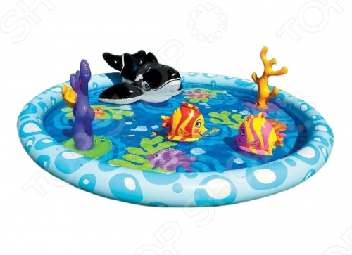 Игровой центр-бассейн надувной Intex 57448 надувной бассейн intex бассейн аквариум 152 56см