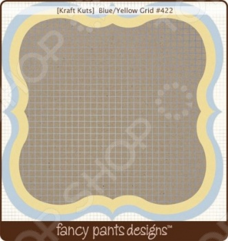 фото Бумага для скрапбукинга двусторонняя Fancy Pants Blue/Yellow Grid, купить, цена
