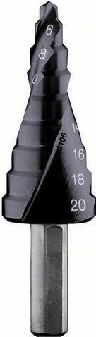 Сверло ступенчатое Bosch HSS-AlTiN 2608588066
