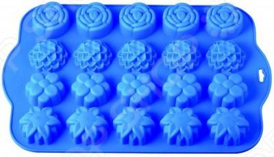Форма для выпечки силиконовая Regent Летний лугСиликоновые формы для выпечки и запекания<br>Форма для выпечки силиконовая Regent Летний луг это отличная форма для выпекания кексов, которая сделана из пищевого силикона. Посуда идеально подходит для выпекания различной выпечки, ведь форма предотвращает тесто от вытекания , при этом, предоставляя возможность с легкостью извлечь готовую выпечку и получить на ней красивый рисунок. Пищевой силикон абсолютно безопасен и не вступает в реакцию с продуктами, а так же не влияет на запах и вкус готового изделия.<br>