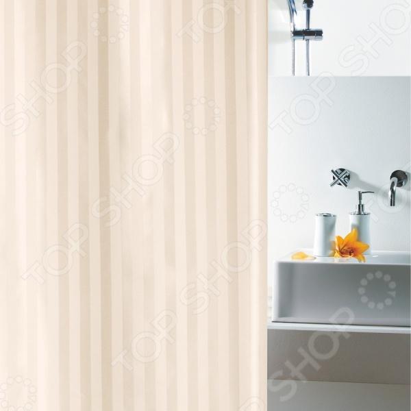 Штора для ванной комнаты Spirella MAGI-SATIN очень практична и удобна в использовании. Плотно прижимается к ванной и сохраняет свою форму благодаря специальному утяжелителю, вшитому в нижний край шторки. Верхний край усилен двойным загибом с отверстиями для колец, которые обработаны пластиком.
